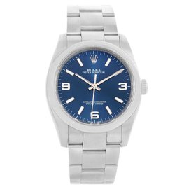 Rolex No Date 116000 Blue Dial Stainless Steel 36mm Mens Watch