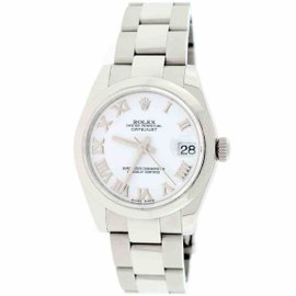 Rolex Datejust 178240 Stainless Steel & White Roman Dial 31mm Unisex Watch