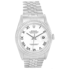 Rolex Datejust 16234 Stainless Steel White Gold Roman Dial Automatic 36mm Mens Watch