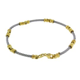 Philippe Charriol 18K Yellow Gold and Stainless Steel Bracelet