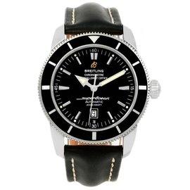 Breitling Superocean Heritage 42 A17320 Stainless Steel Black Dial 42mm Mens Watch