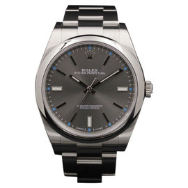Rolex Oyster Perpetual 114300 Stainless Steel Rhodium Dial 39mm Mens Watch