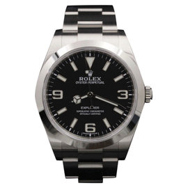 Rolex Explorer I 214270 Stainless Steel Black Lume Dial 39mm Mens Watch