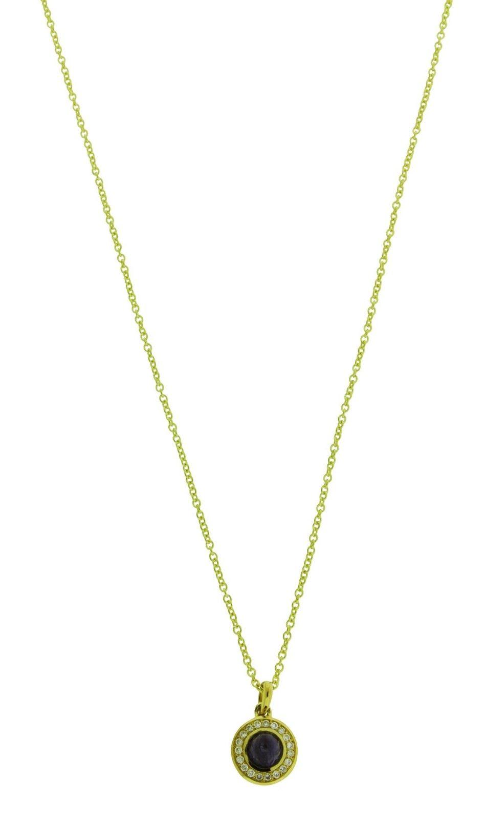 "Image of ""Ippolita 18K Yellow Gold with Diamond & Iolite Mini Lollipop Pendant"""