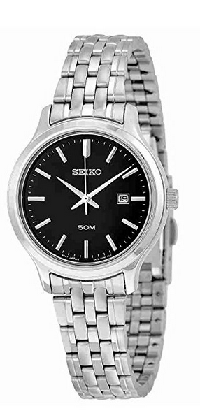 "Image of ""Seiko Sur795 Stainless Steel Quartz 32mm Womens Watch"""