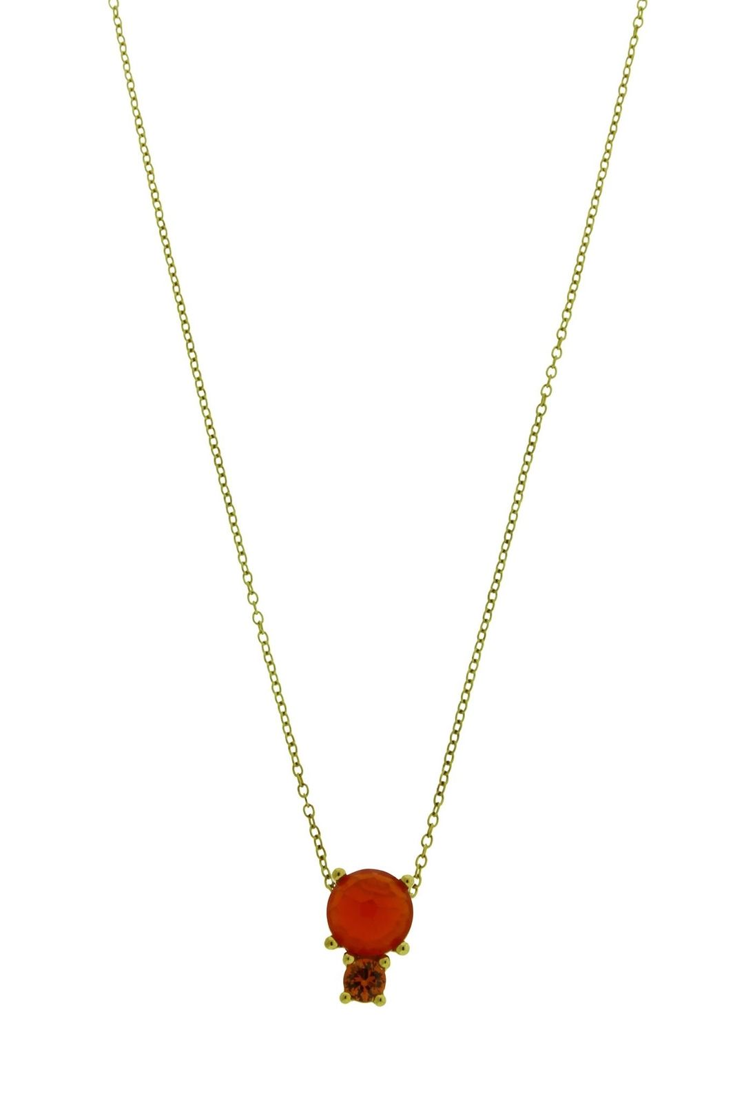 "Image of ""Ippolita 18K Yellow Gold wirh Carnelian and Sapphire Pendant Necklace"""