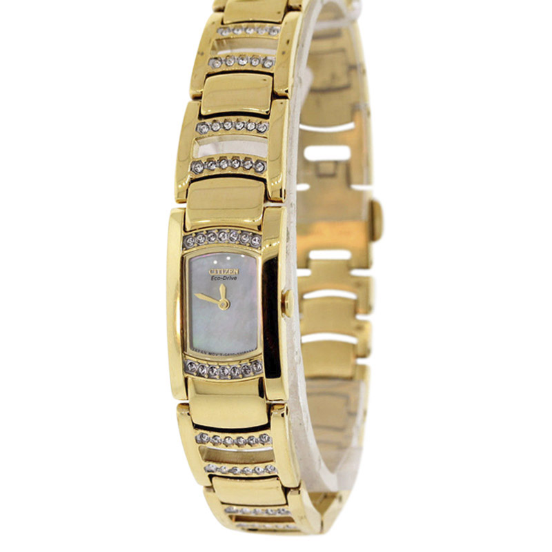 """""""""""Citizen Eg2732-51D Gold Tone Stainless Steel & Mother of Pearl Dial"""""""""""" 2115867"""