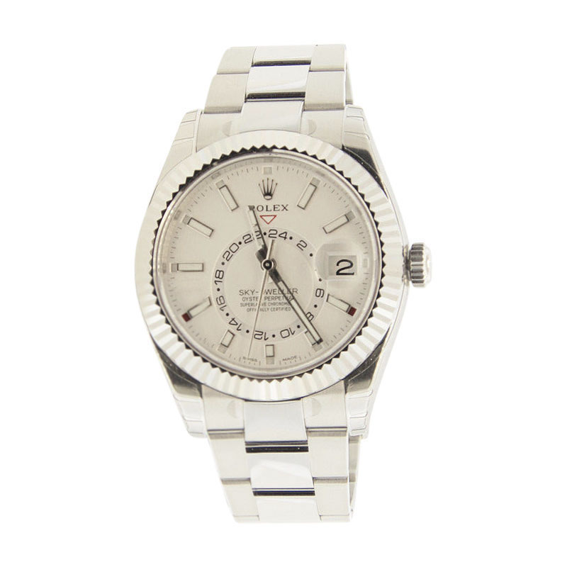 "Image of ""Rolex Sky Dweller 326934 Stainless Steel White Dial 42mm Mens Watch"""