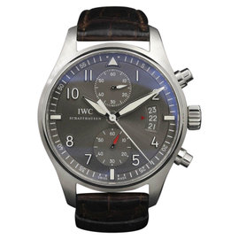 IWC Pilot IW3878-02 White Gold Grey Dial 43mm Mens Watch