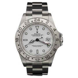 Rolex Explorer II 16570 Stainless Steel White Dial 40mm Mens Watch