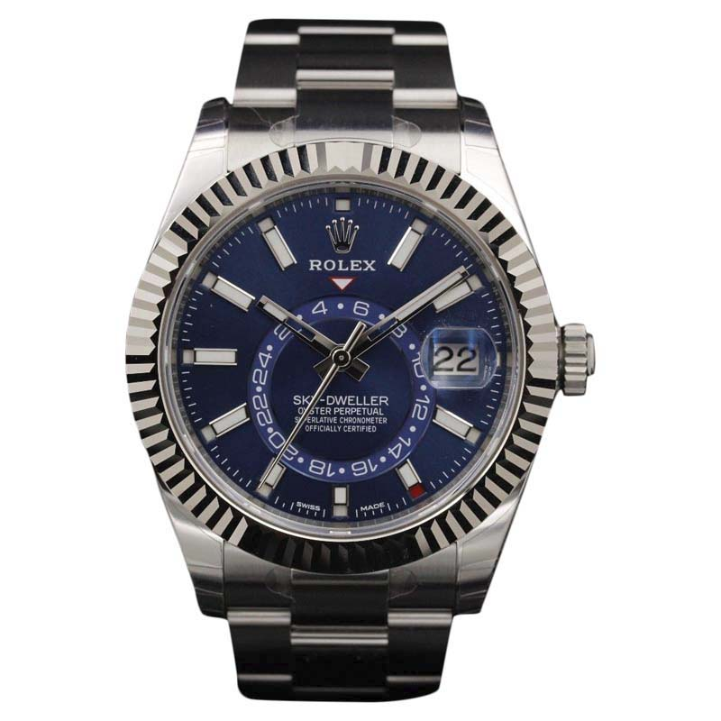 "Image of ""Rolex Sky-Dweller 326934 Stainless Steel Blue Dial 42mm Mens Watch"""