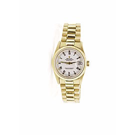 Rolex Datejust 68278 18K Yellow Gold White Roman Dial 31mm Unisex Watch
