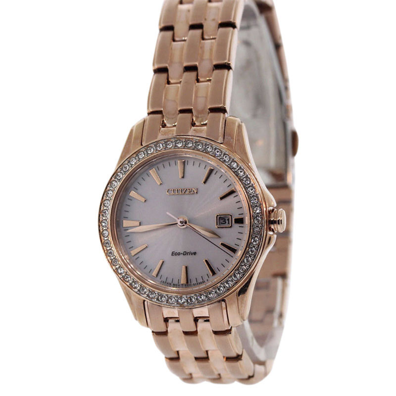 """Image of """"Citizen Ew1903-52A Rose Gold Tone Stainless Steel 28mm Womens Watch"""""""