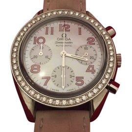 Omega Speedmaster 38357434 Stainless Steel & Diamond Bezel 35.5mm Womens Watch