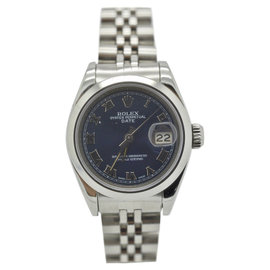 Rolex Datejust 69160 Stainless Steel Blue Roman Automatic 26mm Womens Watch