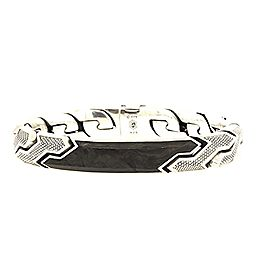 David Yurman 925 Sterling Silver with Forged Carbon Bracelet