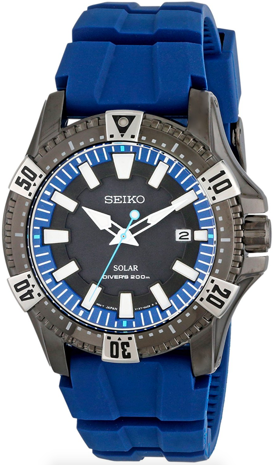"Image of ""Seiko Sne283 Stainless Steel Quartz 45mm Mens Watch"""