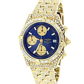 Breitling Chronomat K13047X 18K Yellow Gold with 8.6Ct Diamond Automatic 41mm Mens Watch