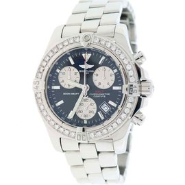 Breitling Chrono Colt A73380 Stainless Steel & Black Concentric Dial 41mm Mens Watch
