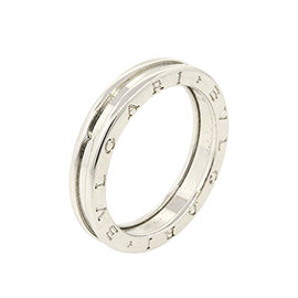 Bulgari B.Zero1 18K White Gold Band Ring Size 11.75