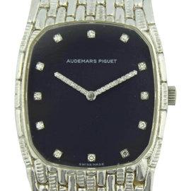 Audemars Piguet 18K White Gold with Diamonds Manual 27mm Womens Watch