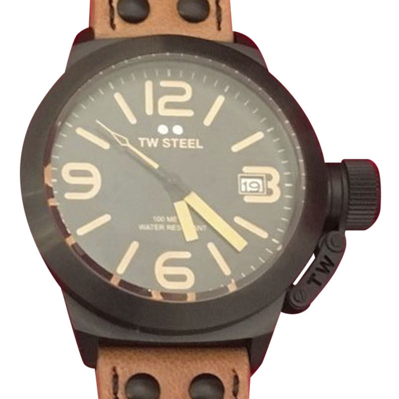 "Image of ""TW Steel Canteen Cs41 Black PVD Coated Stainless Steel & Black Dial"""