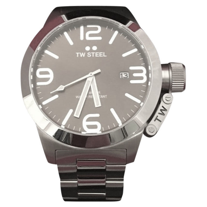 "Image of ""TW Steel Grandeur TS1 Stainless Steel 45mm Mens Watch"""