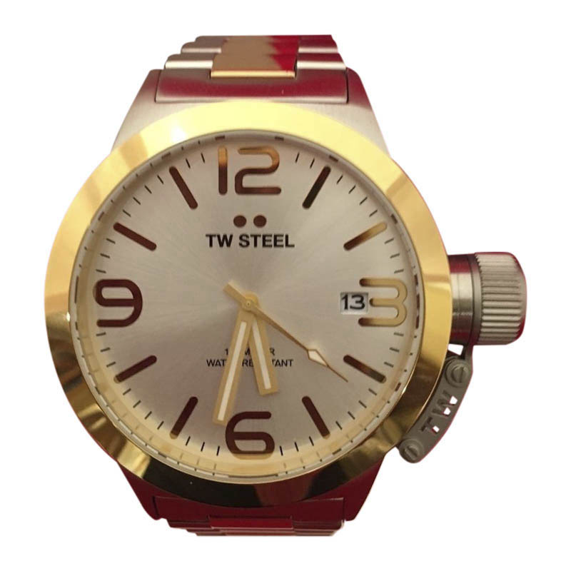 "Image of ""TW Steel Canteen Cb31 Stainless Steel & Gold Plated 45mm Mens Watch"""