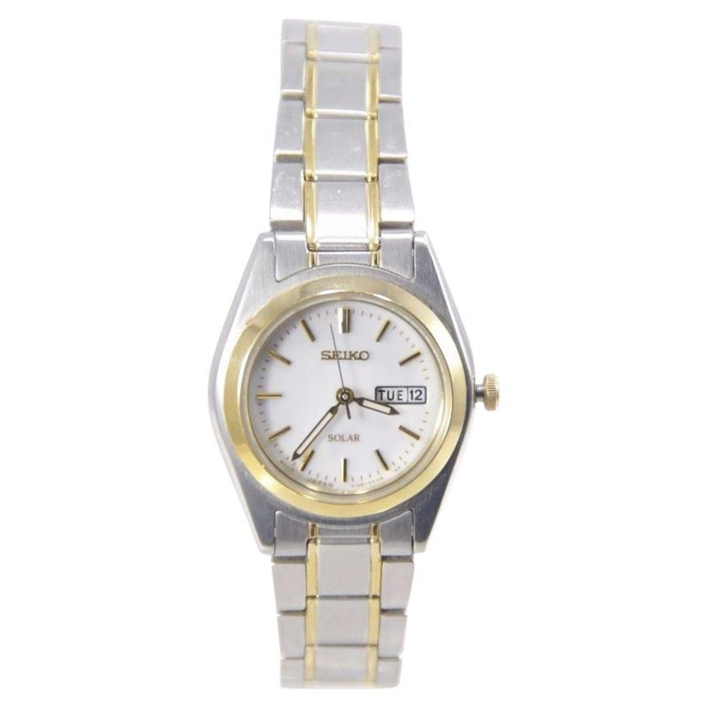 "Image of ""Seiko Sut108 Two Tone Stainless Steel Quartz 25mm Womens Watch"""