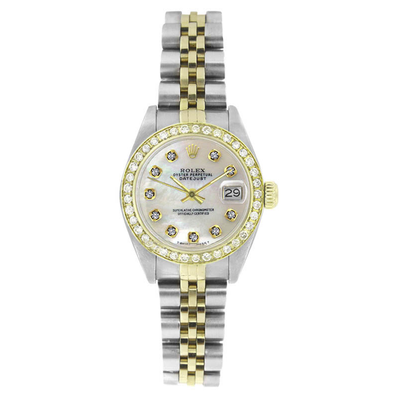 """Image of """"Rolex Datejust 6917 Stainless Steel & Yellow Gold White MOP Diamond"""""""