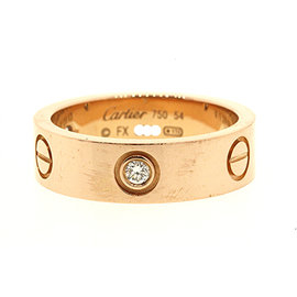 Cartier Love Eternity 18K Rose Gold with 0.09ct Diamond Band Ring 6.75