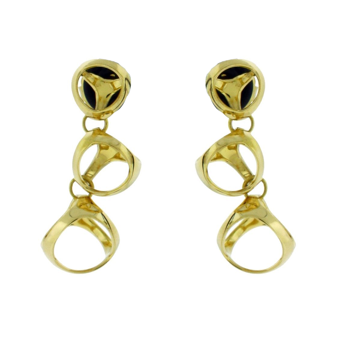 "Image of ""Di Modolo Triadra 18K Yellow Gold Earrings"""