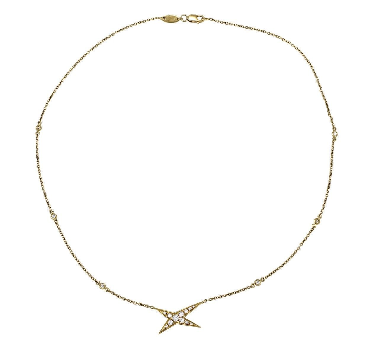"Image of ""Mauboussin 18K Yellow Gold with 0.50ct Diamond Star Necklace"""