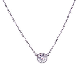 Tiffany & Co. Elsa Peretti Platinum with 0.50ct Diamonds By The Yard Pendant Necklace