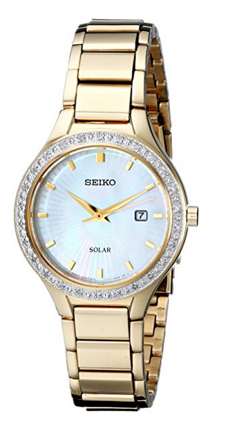 """""""""""Seiko Core Sut138 Gold Tone Stainless Steel with Mother Of Pearl Dial"""""""""""" 2237511"""