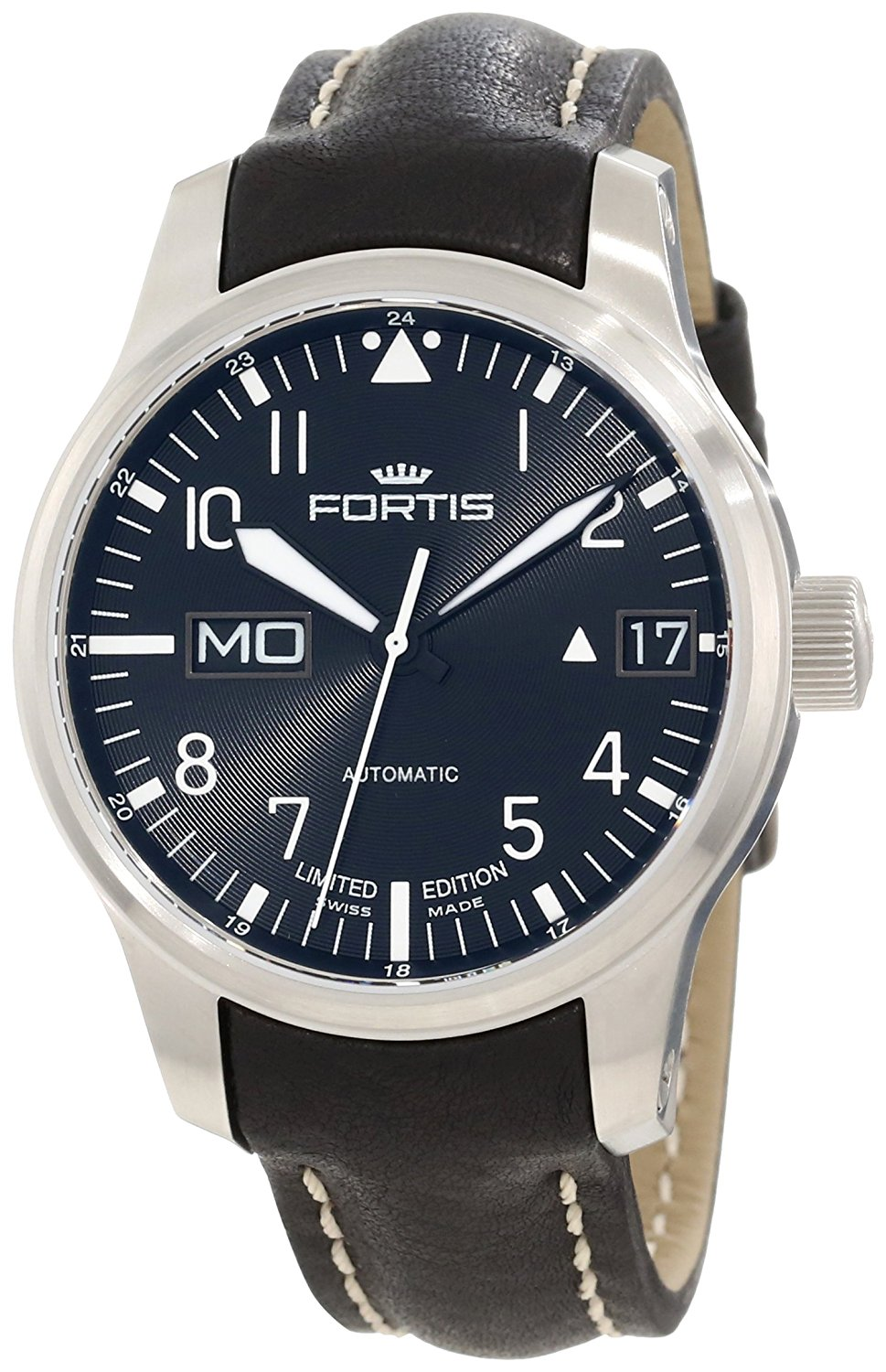 "Image of ""Fortis F-43 Flieger 700.10.81 L.01 Black Leather Strap Automatic 43mm"""