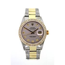 Rolex Datejust Diamond Mens Watch