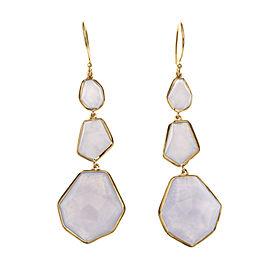 Ippolita Rock Candy 18K Yellow Gold Blue Moonstone Dangle Earrings