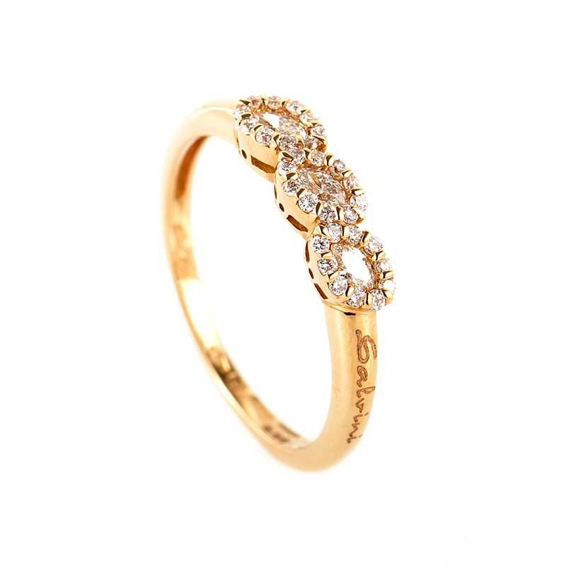 "Image of ""Salvini 18K Rose Gold Diamond Band Ring Size 7"""