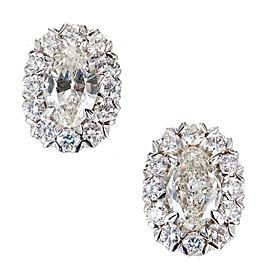 18K White Gold 1.65ct Diamond Earrings