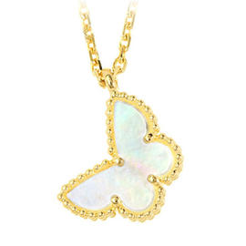 Van Cleef & Arpels 18K Yellow Gold With Mother Of Pearl Sweet Alhambra Necklace