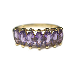 10K Yellow Gold Amethyst Ring Size 10