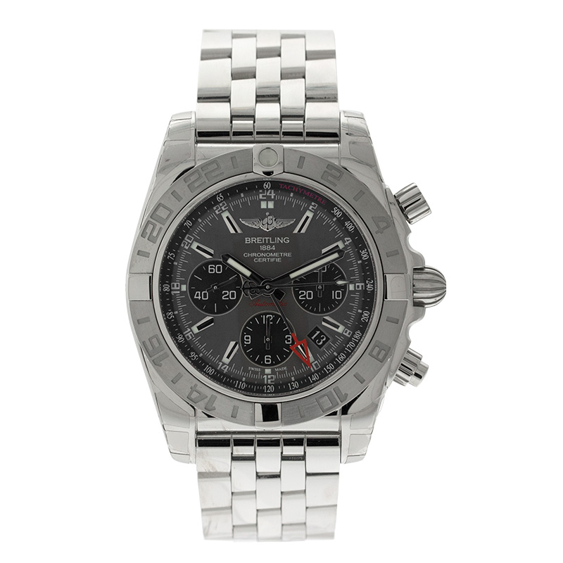 "Image of ""Breitling Chronomat 44 GMT Ab042011/f561 Stainless Steel Mens Watch"""