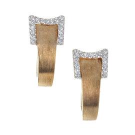 18K Yellow & White Gold .34ct Diamond Ribbon Earrings