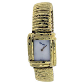 Henry Dunay Sabi WB 1015L 18K Yellow Gold Mother of Pearl Dial 21mm Womens Watch