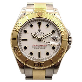 Rolex Yachtmaster 68623 18K Yellow Gold/Stainless Steel 35mm Womens Watch