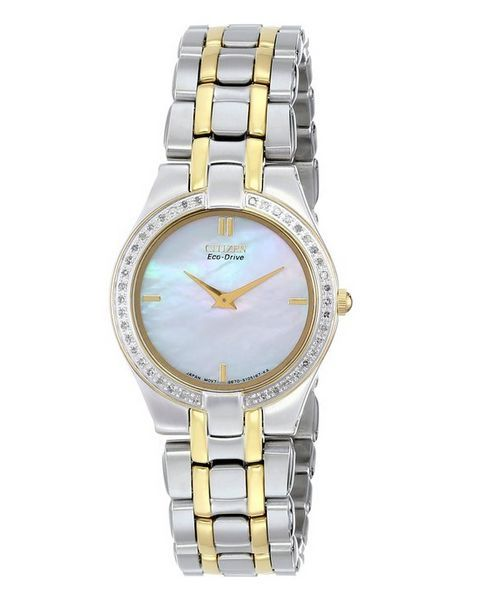 "Image of ""Citizen Eg3154-51D Stainless Steel & Yellow Gold Mother of Pearl Dial"""