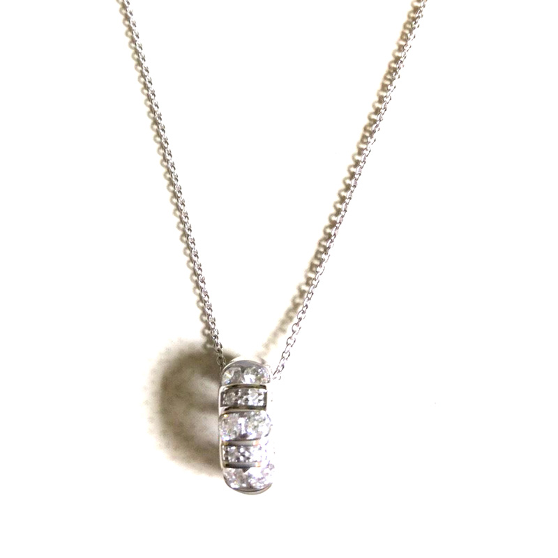 "Image of ""Bliss by Damiani 'Cabaret' 18K White Gold 10 Diamond Necklace"""