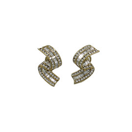 Charles Krypell 18K Yellow Gold 5.00ct. Diamond Earrings