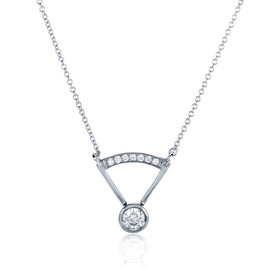 14K White Gold 0.3ct Diamond Necklace